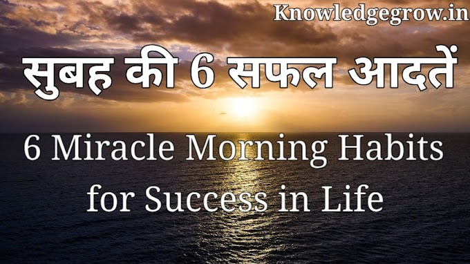 The Miracle Morning book summary in Hindi | 6 Miracle Morning Habits for Success in Life