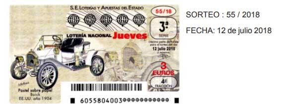 resultado de la loteria nacional del jueves 12 de julio de 2018