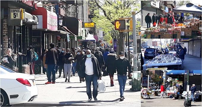 Dominicanos rompen y  Alto Manhattan recobra dinamismo antes de la apertura oficial de Nueva York en Pausa