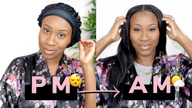 Night Time Hair Routine: How I Tie My Hair At Night + Morning Results! | Relaxed Hair | www.HairliciousInc.com