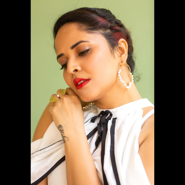 Anchor Anasuya Bharadwaj Latest Photoshoot in Sexy White Outfit Navel Queens