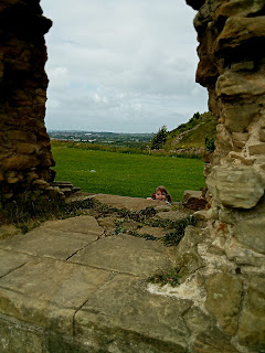looking through the castle