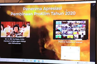 Sokong Iklim Sehat di Indonesia,  Desa Bukit Jaya di Muba Raih Penghargaan Proklim Utama dari Kemen-LHK