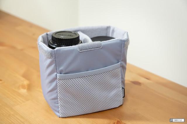 【開箱】輕巧收納好方便,HAKUBA 可折相機內袋 - 除了收納相機、鏡頭,其實也可以考慮給 GoPro 使用