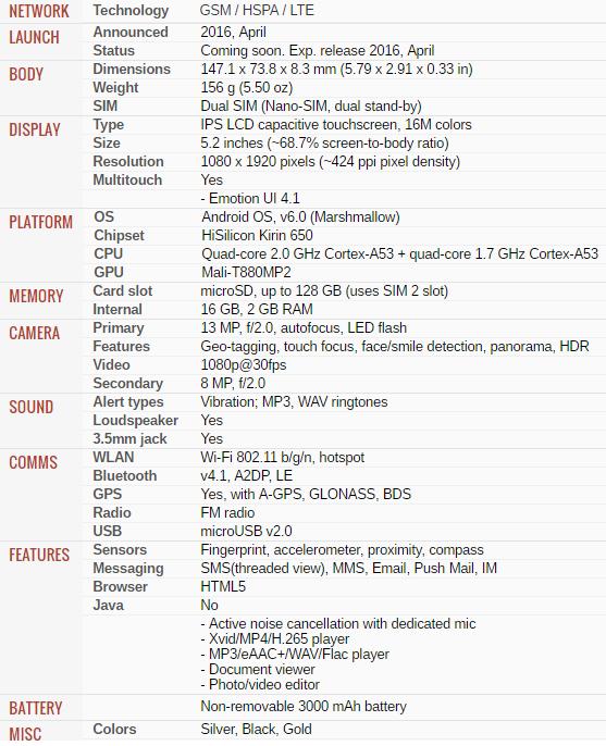 Huawei_Honor_Specs