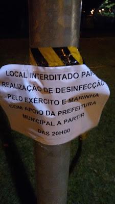 Exército, Marinha e Prefeitura  realizaram desinfecção nos espaços públicos em Registro-SP