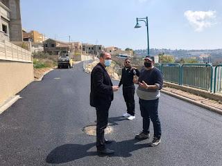 افتتاح الطريق الاسفلتي في ترشيحا لصالح سكان القرية