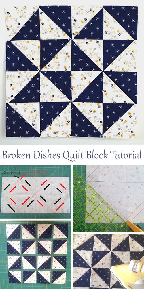 Broken Dishes Quilt Block Tutorial