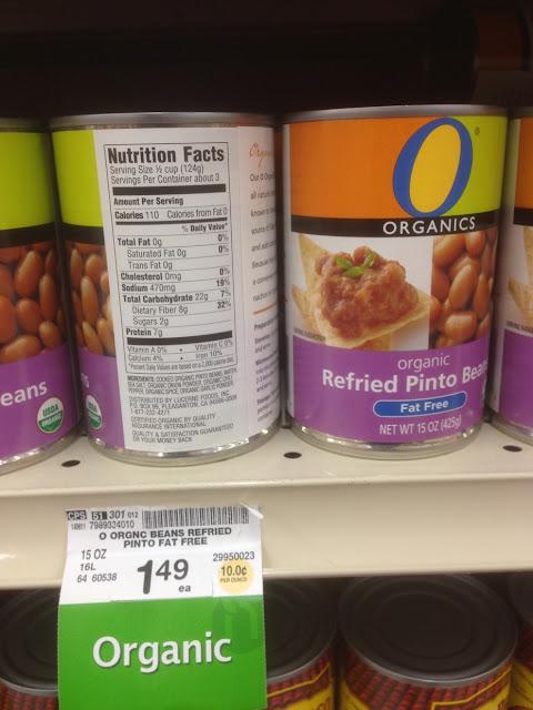 Refried Pinto Beans, Organics - Safeway
