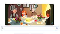 Il doodle di Google in memoria di Lucy Maud Montgomery, l'autrice di Anna dai capelli rossi