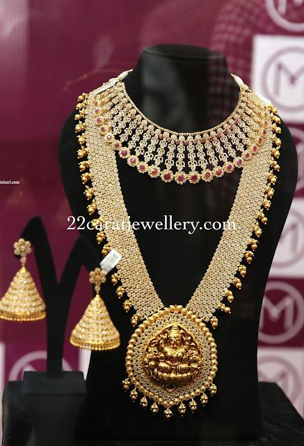 Floral Diamond Haram Choker by Malabar Gold