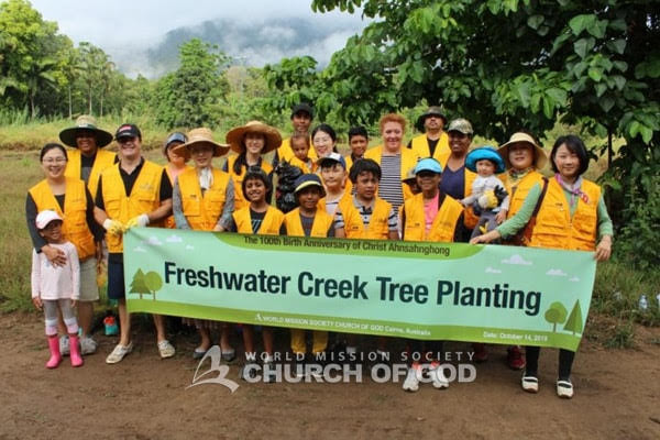 Tree Planting for the 100th Birth Anniversary of  Christ Ahnsahnghong – Freshwater Creek, Cairns
