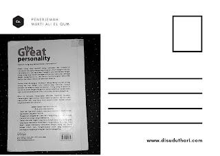 Cover belakang buku the Great Personality