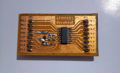 EFM8BB10F8G-A-SOIC16 Breakout Board PCB Top