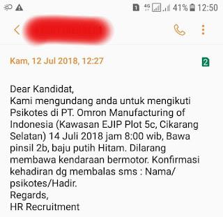 Info Lowongan Pekerjaan Operator Produksi Pt Omron Manufacturing Indonesia untuk SMK/SMA sederajat terbaru Juli 2018