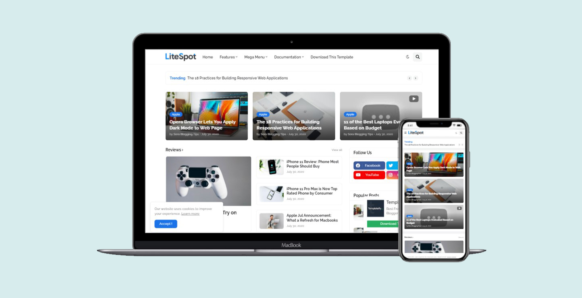 LiteSpot Responsive Blogger Premium Template