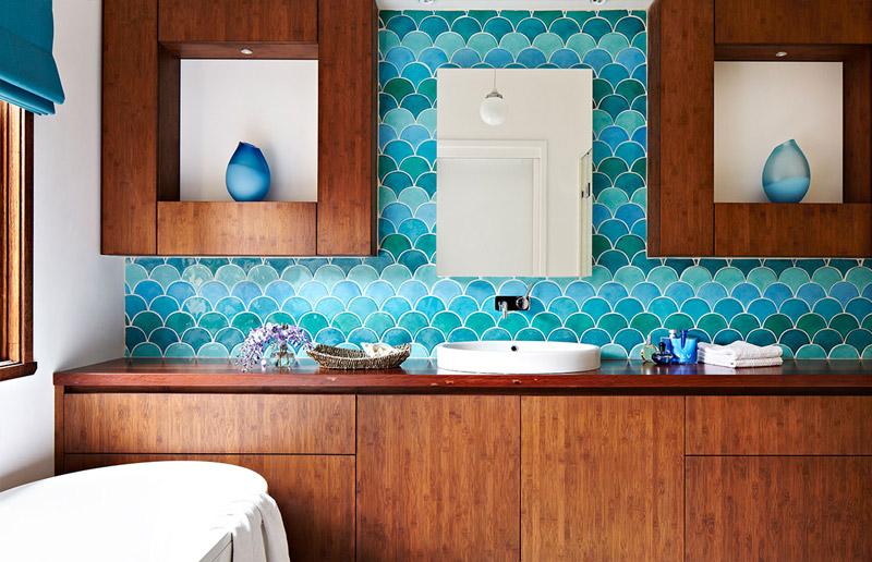 Um detalhe para amar ♥︎ : azulejo escama de peixe (ou escalopado)! | Casa&Cozinha