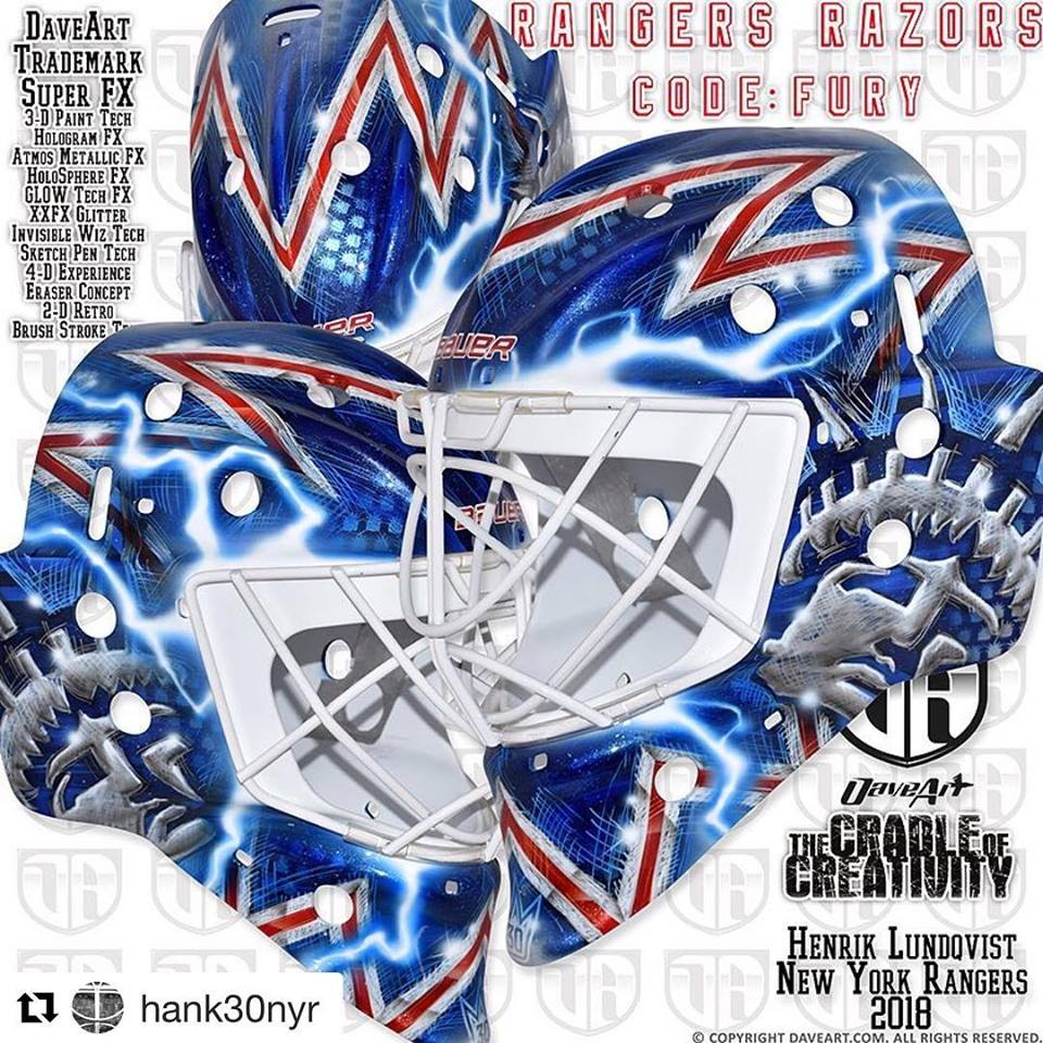 I Love Goalies Henrik Lundqvist 2018 19 Mask