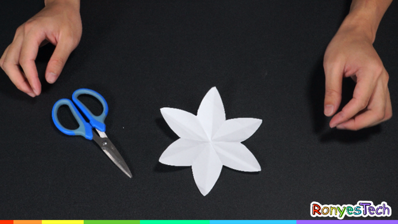 Water-Blooming Paper Flower STEM Activity Instruction Step1