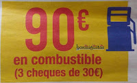 Cheque combustible 90€ Carrefour