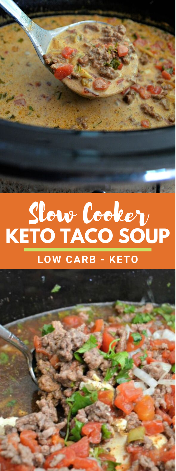 Easy Slow Cooker Keto Taco Soup #healthy #ketodiet