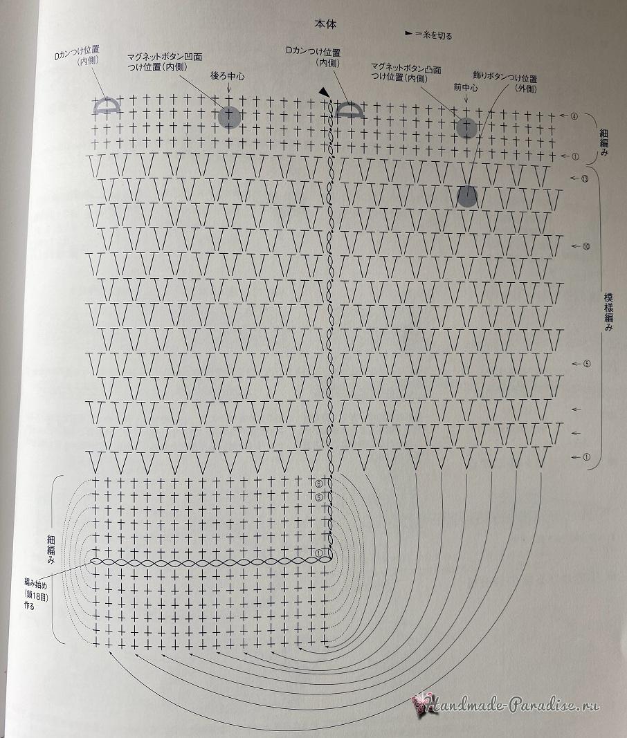 Сумочка для телефона крючком (2)