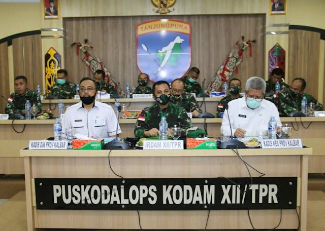 Kodam XII/Tpr dan Pemprov Kalbar; Latih Kader Penegak Disiplin Protokol Kesehatan di Lingkungan Sekolah