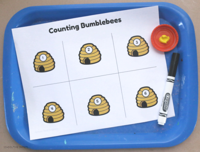 supplies for bumblebee fingerprint art