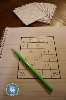 Bingo 1 to 100 Classroom Game