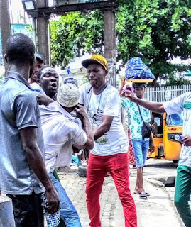 Touts, Conductor Exchange Blows In Lagos (Photos)