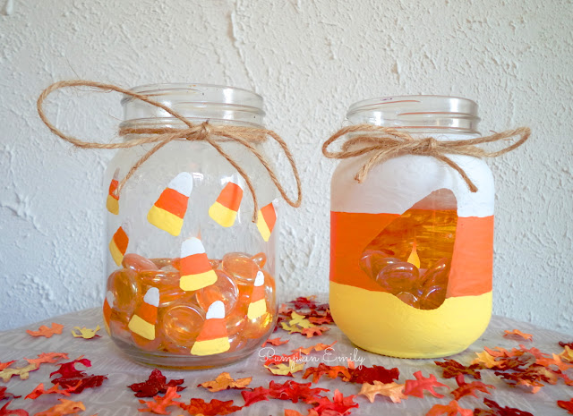 DIY Candy Corn Jars