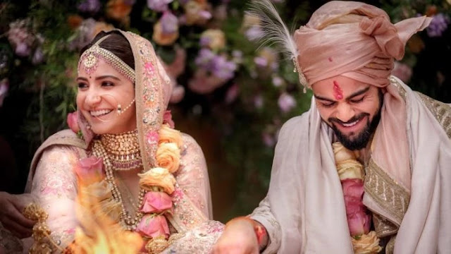 Virat Kohli Marriage with Anushka Sharma Pics