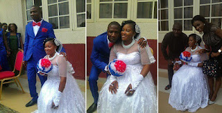 Physically Challenged Lady Ties The Knot With Husband In Imo State (Photos)