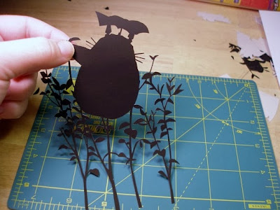 My Neighbor Totoro paper cut by Cutting Pixels