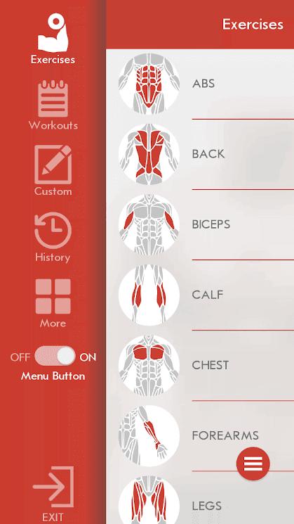 تطبيق اللياقة البدنية Fitness & Bodybuilding للأندرويد 2019 - صورة لقطة شاشة (2)
