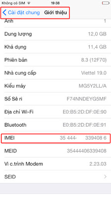 kiểm tra imei của iphone 6 cũ khi chọn mua