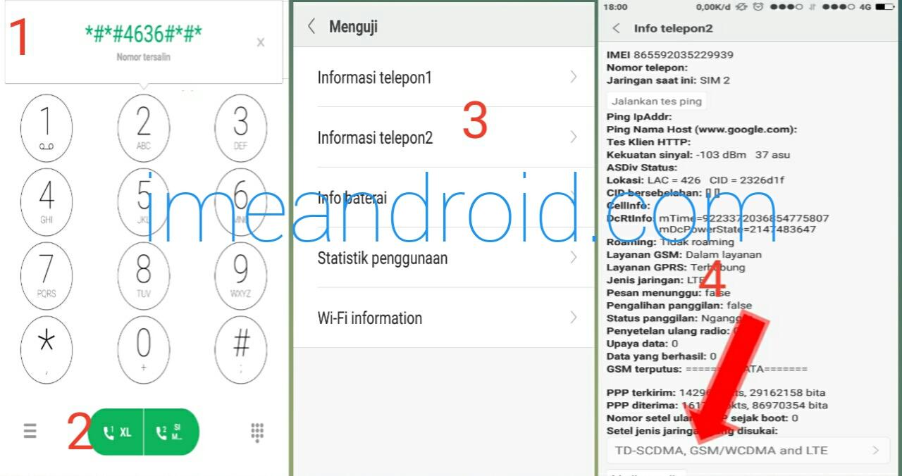 Cara Aktifkan Kunci Jaringan 4g Pada Xiaomi 4g Only Ime Android