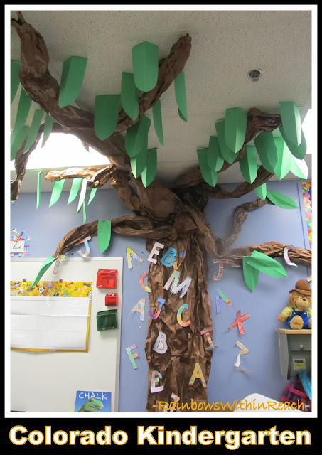 photo of: Chicka Chicka Tree in Colorado Kindergarten (Tree RoundUP via RainbowsWithinReach)