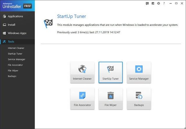 Ashampoo Uninstaller Free untuk Windows 10