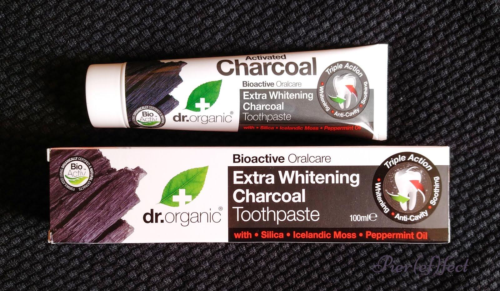 dr organic dentifricio carbone