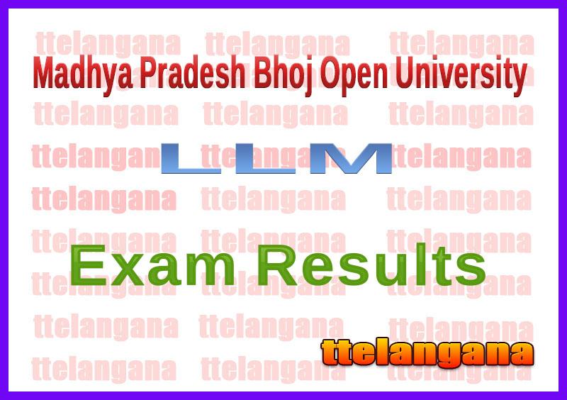 Madhya Pradesh Bhoj Open University LLM 1st 2nd Year Exam Result