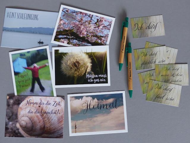 Fräuleins wunderbare Welt Produkte Ware Postkarten Ich-darf-Karten Kugelschreiber