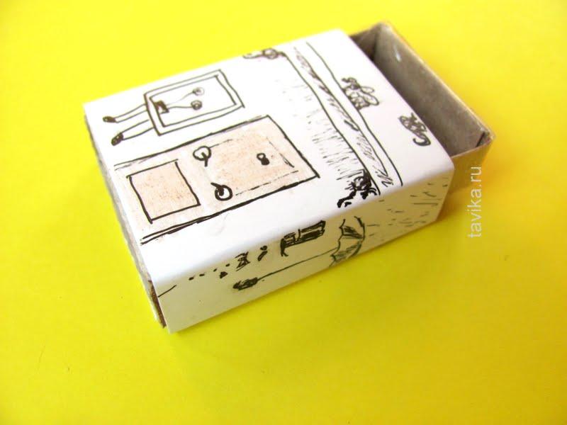 детская поделка из спичечного коробка
