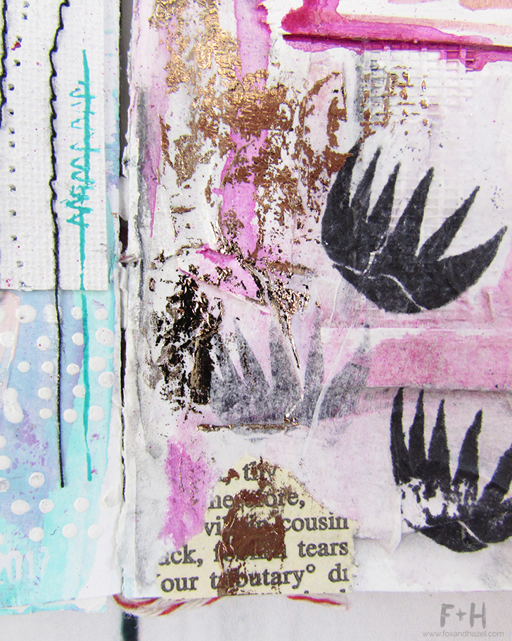 Ways to Use Foil Printing in Art Journaling