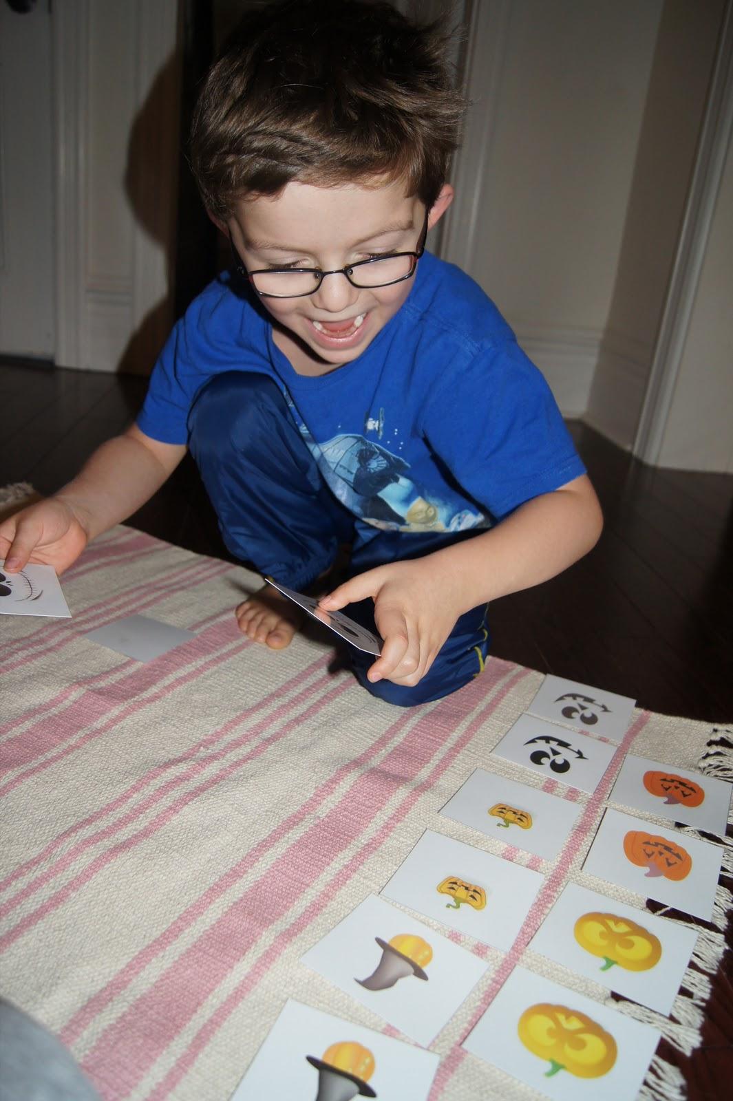 Halloween Memory Match Activity Halloween Activities At Home