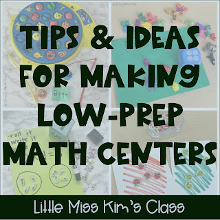 Low-prep math center ideas
