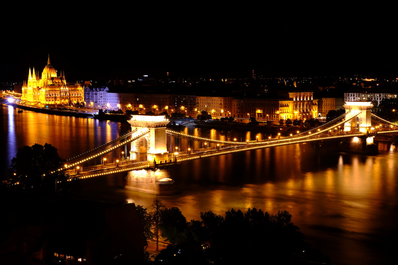 Pest side view from Buda Castle