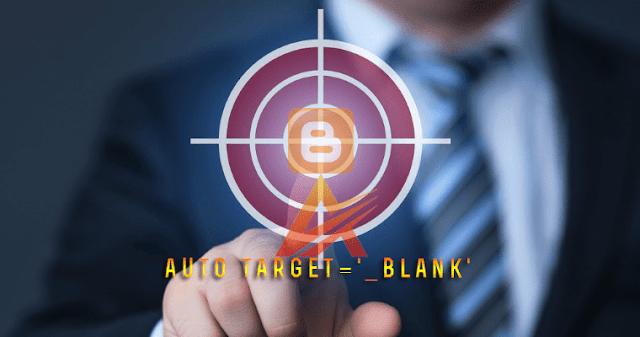 Tự động thêm thuộc tính target='blank' với các link ngoài trong blogspot