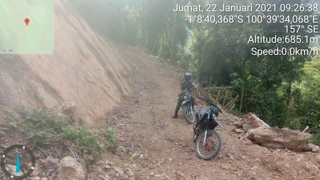 Pengecekan Dan Pengawasan Lokasi Jalan TMMD Ke 109 Nagari Pancung Taba
