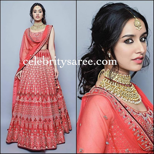 Shraddah Kapoor Embroidery Lehenga